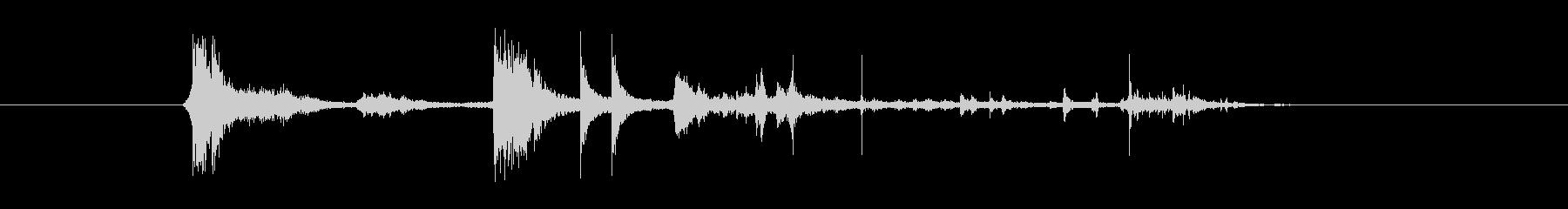 不均一な並列バー:短いシーケンス、...の未再生の波形