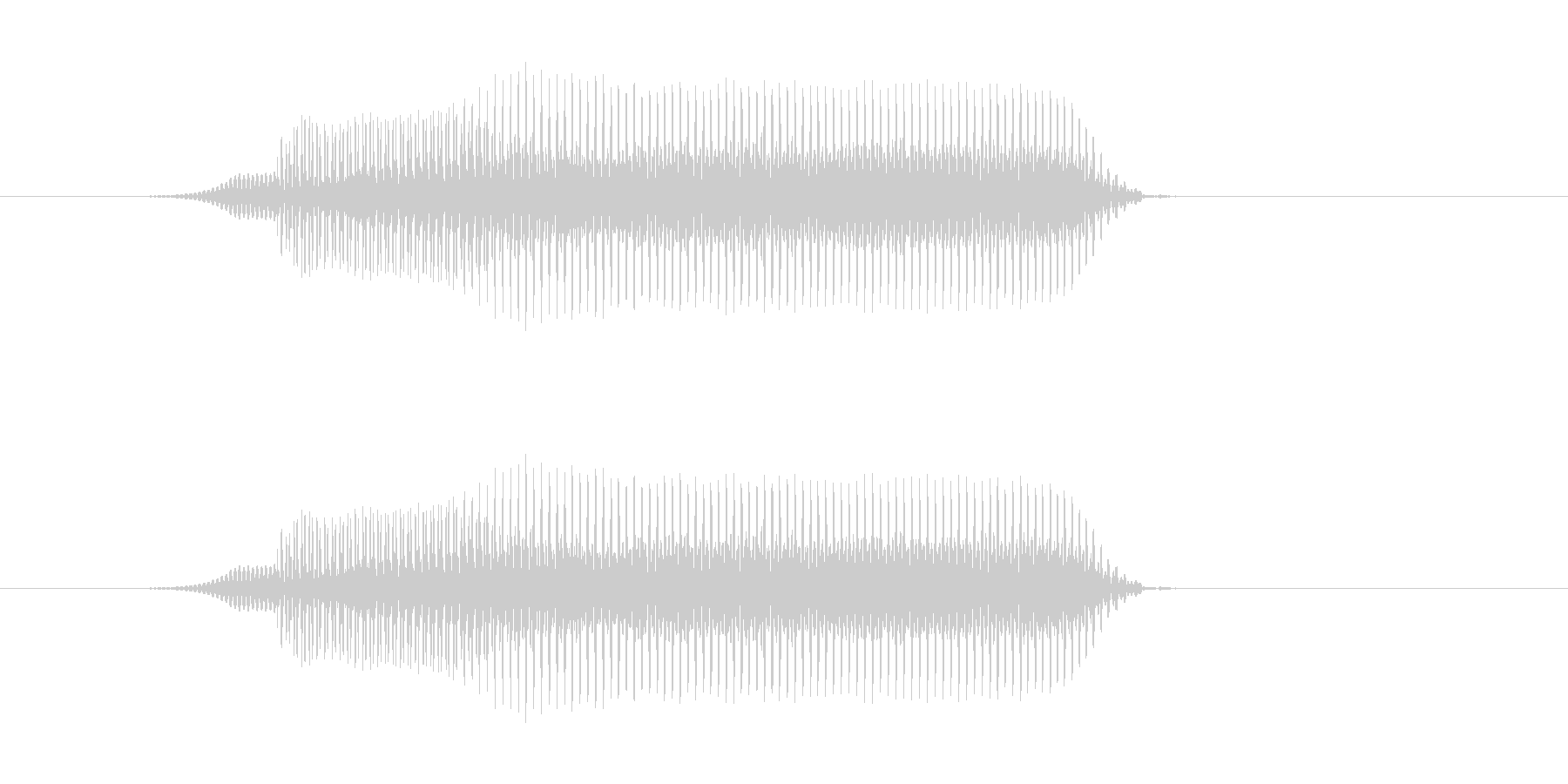 ぶいーの未再生の波形