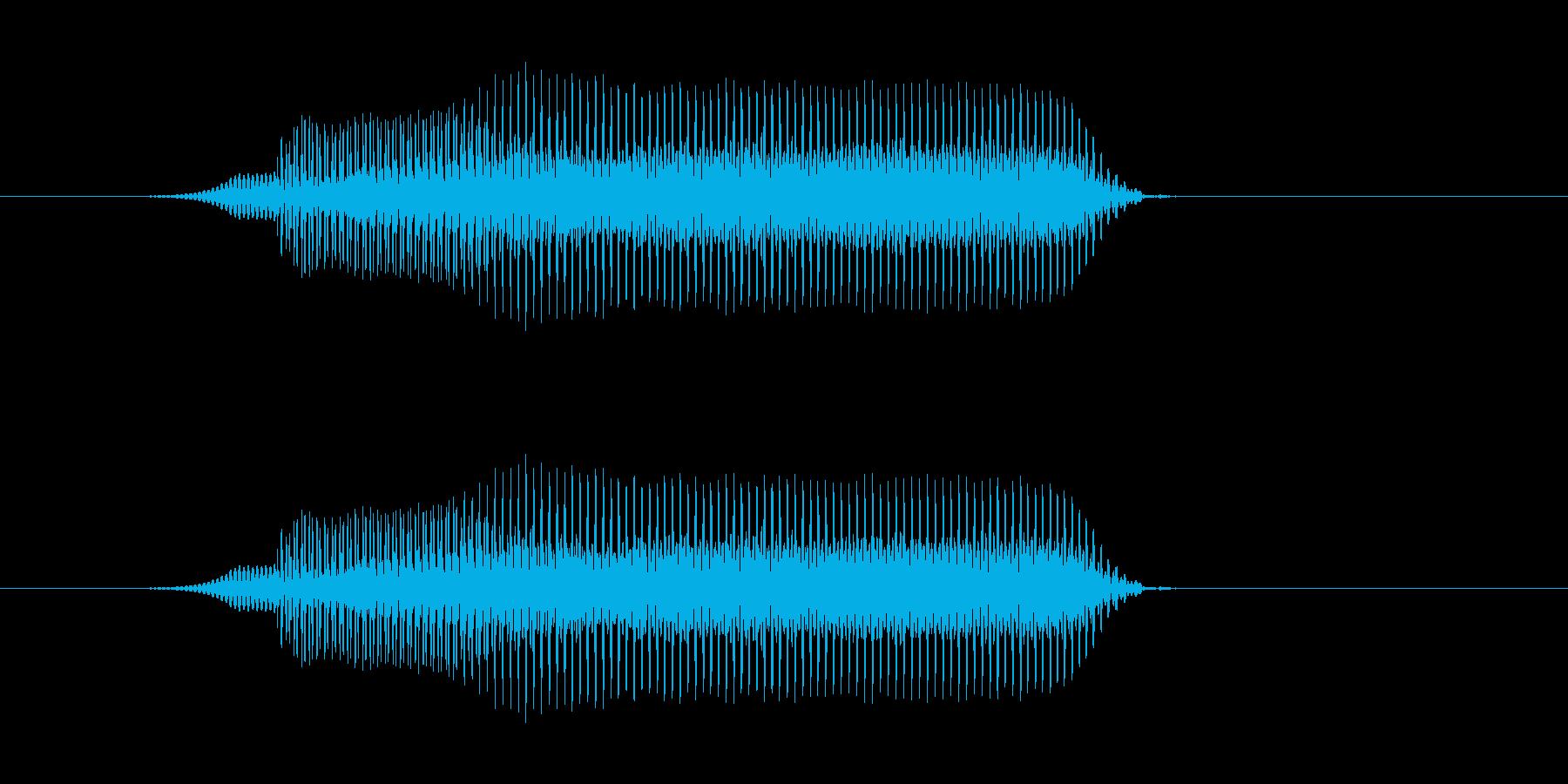 ぶいーの再生済みの波形