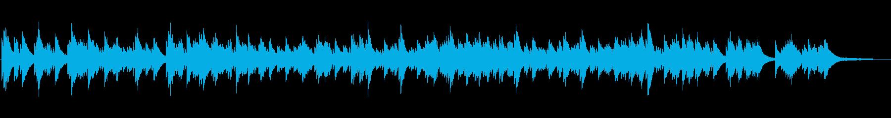 推理ADV風 仄暗く緊張感のあるピアノ曲の再生済みの波形