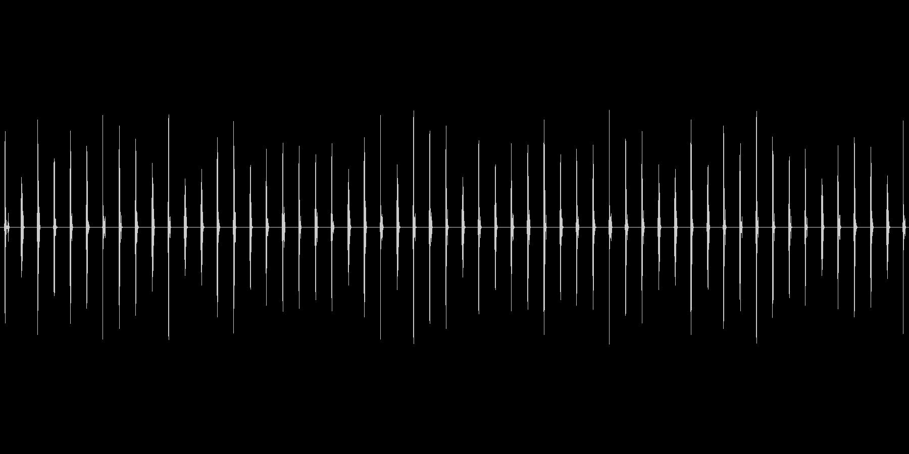 スニーカーで芝生を歩く音の未再生の波形