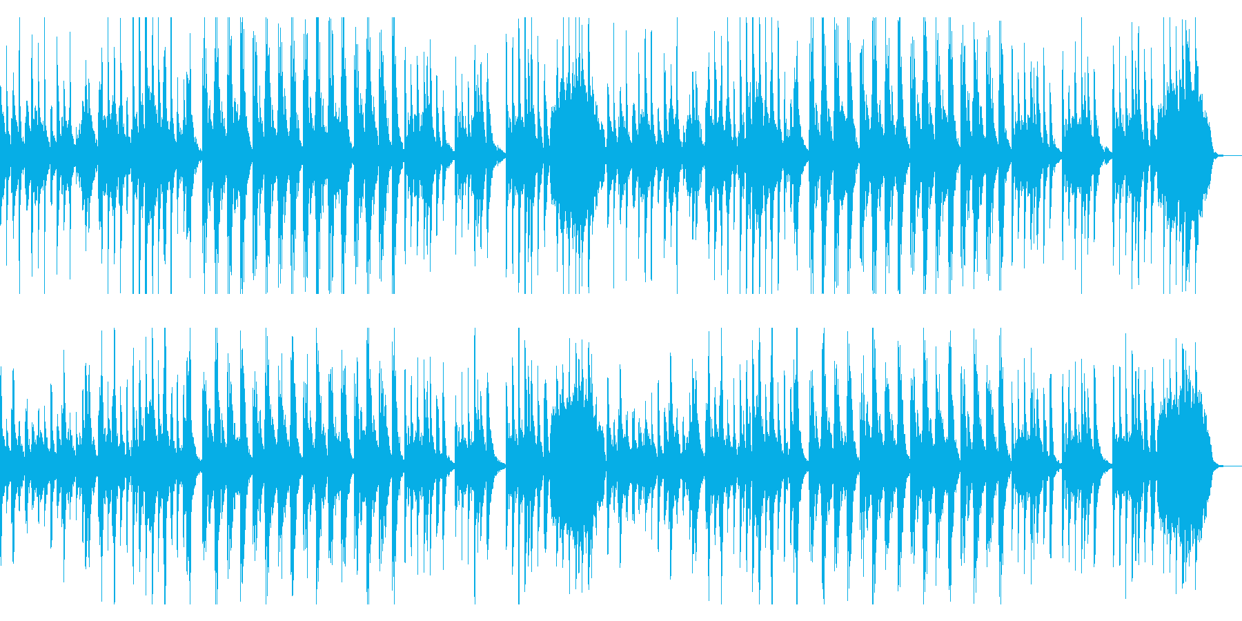 ダーク、チェレスタ、シンプル、のっそりの再生済みの波形
