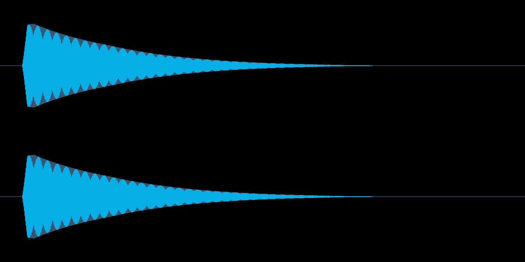 ポン 高【カーソル音:おしゃれで綺麗】の再生済みの波形