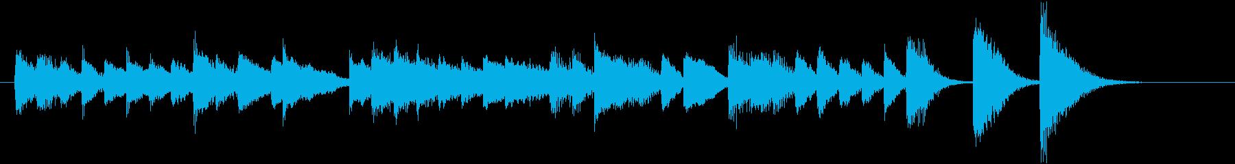 可愛く転がるメロディ♪冬のピアノジングルの再生済みの波形