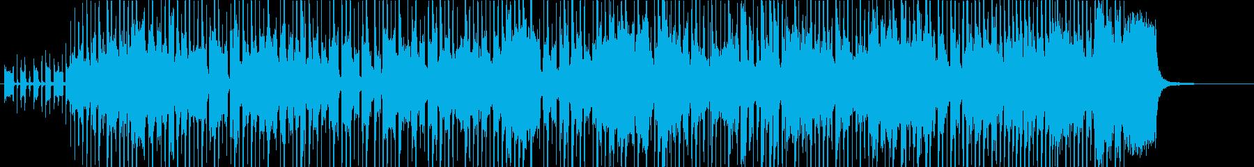 スラップベースの効いたファンク曲の再生済みの波形