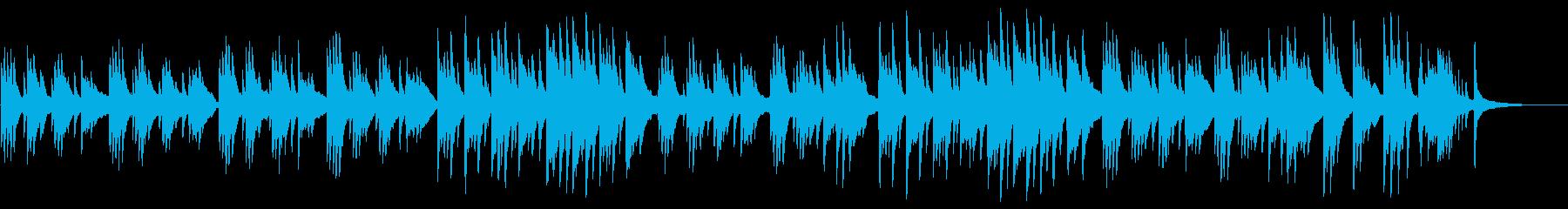 切ないピアノ曲の再生済みの波形