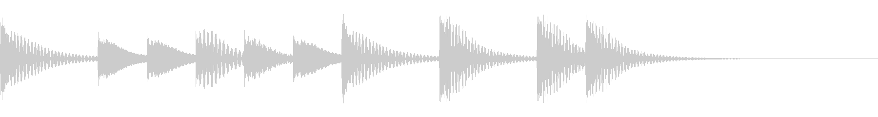 マリンバ(木琴)のかわいいジングルの未再生の波形