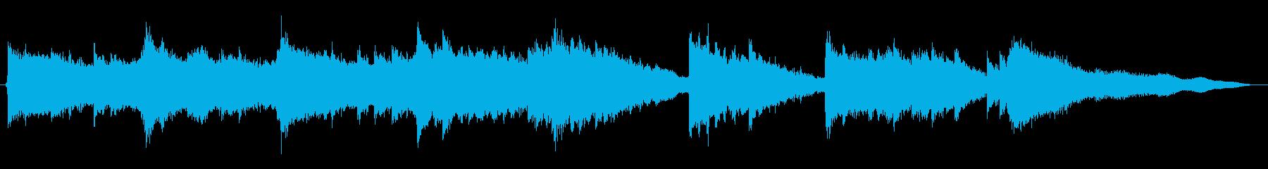 ピアノとギターによるヒーリングの再生済みの波形