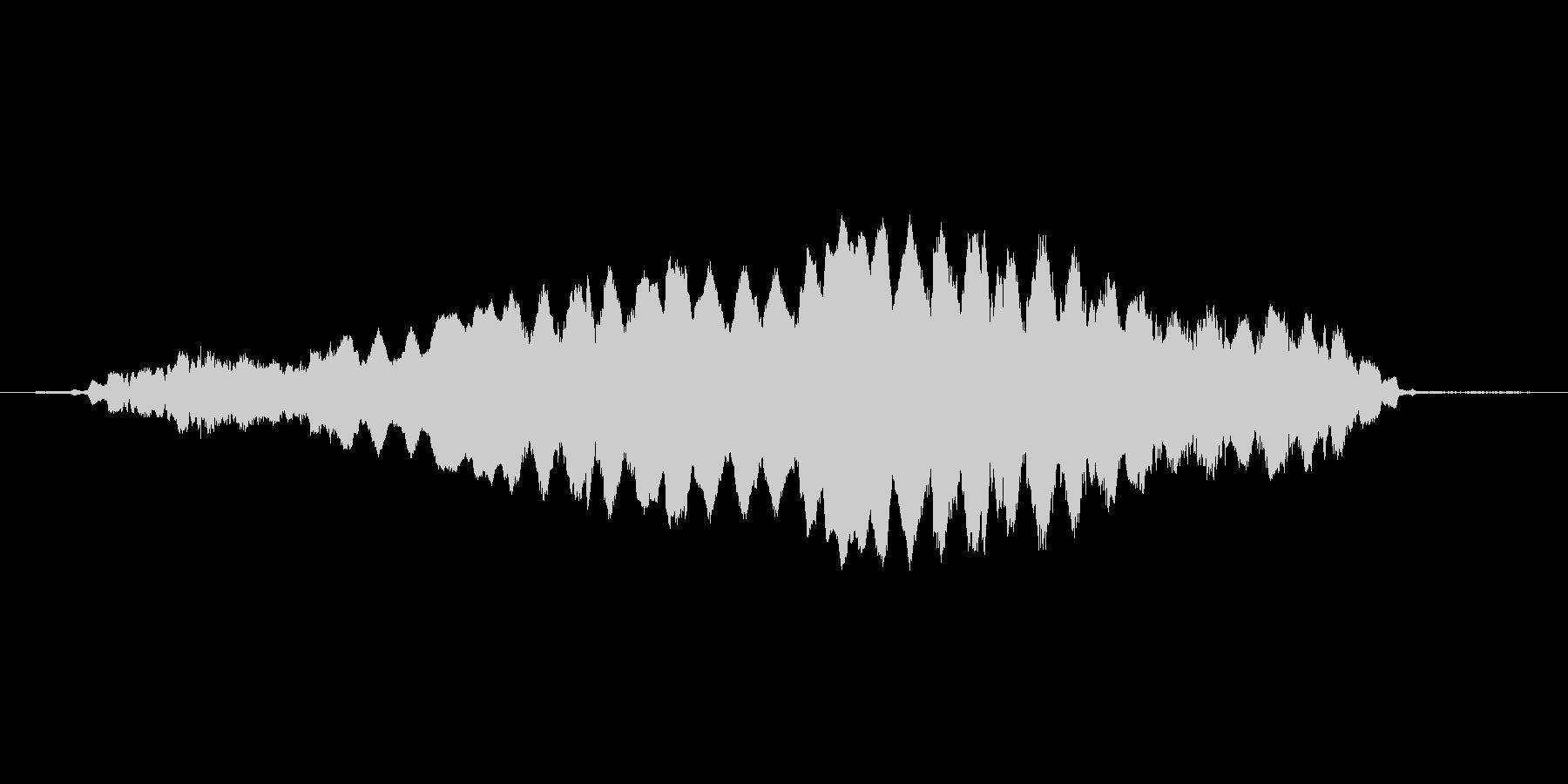 (おばけが悲しむ声)の未再生の波形
