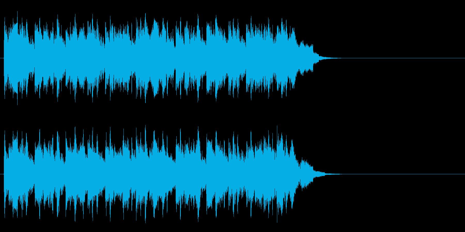 のんびりと爽やかなポップ(サビ)の再生済みの波形