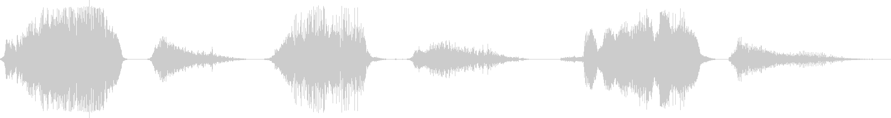 男のいびき(口を閉じた状態)の未再生の波形