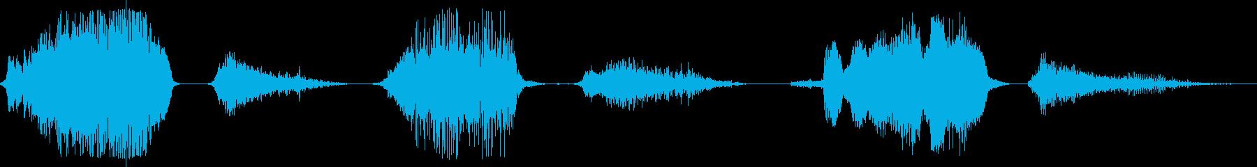 男のいびき(口を閉じた状態)の再生済みの波形