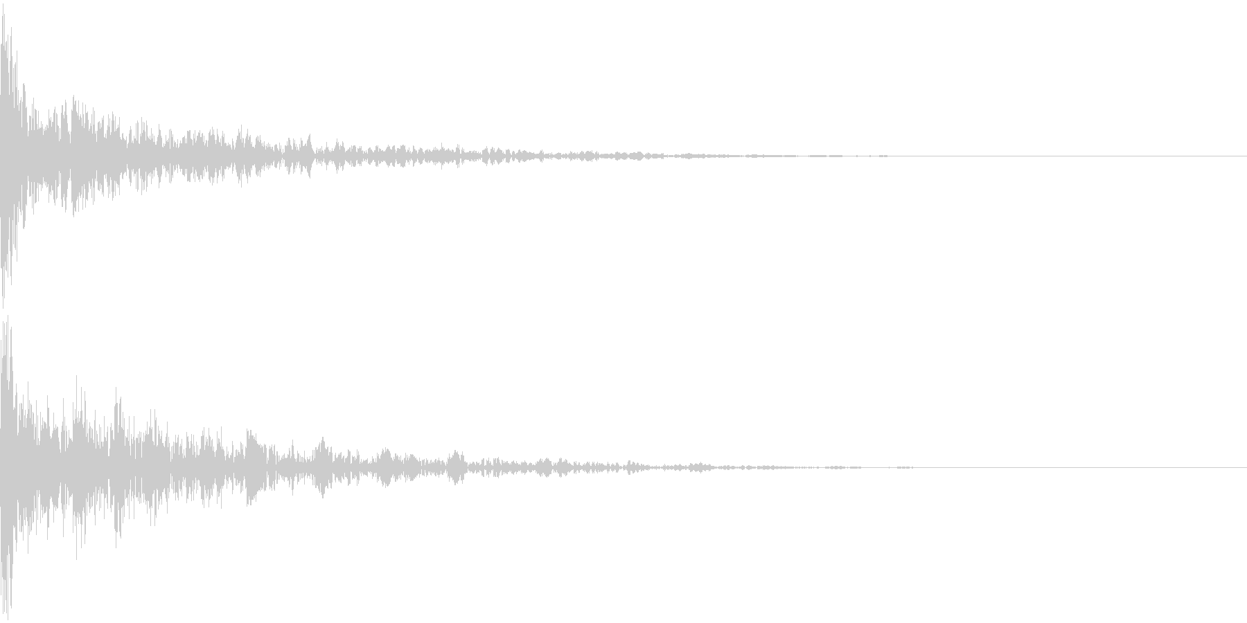ドーン-34-2(インパクト音)の未再生の波形