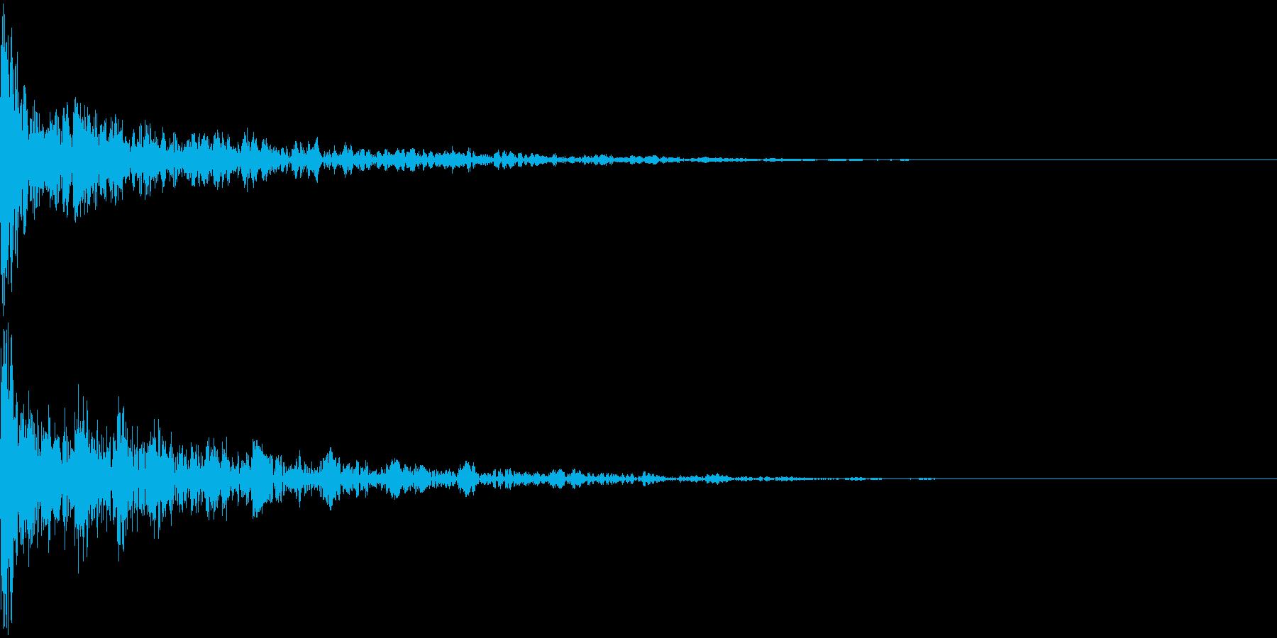 ドーン-34-2(インパクト音)の再生済みの波形