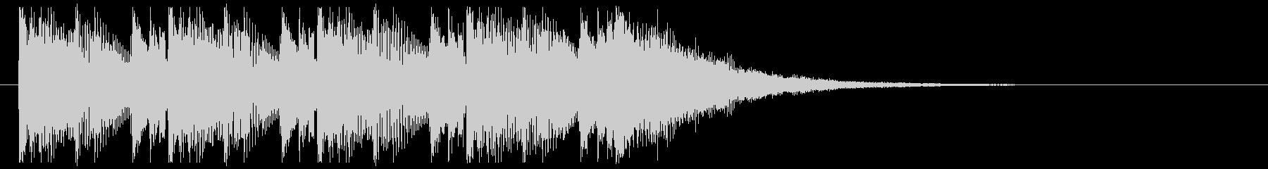 ダークな インダストリアルなサウンロゴの未再生の波形