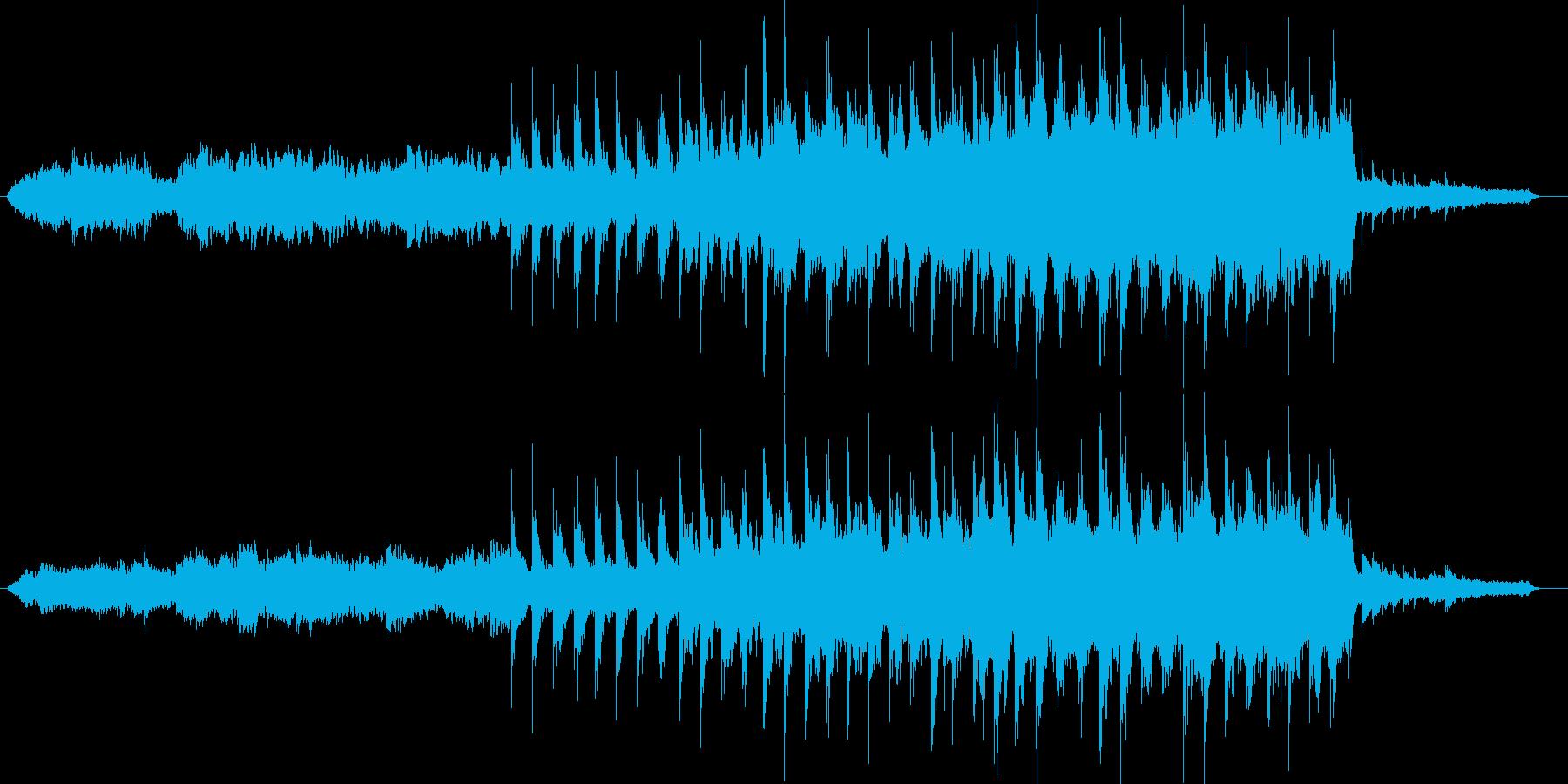 神秘的でシリアスなメロディの再生済みの波形
