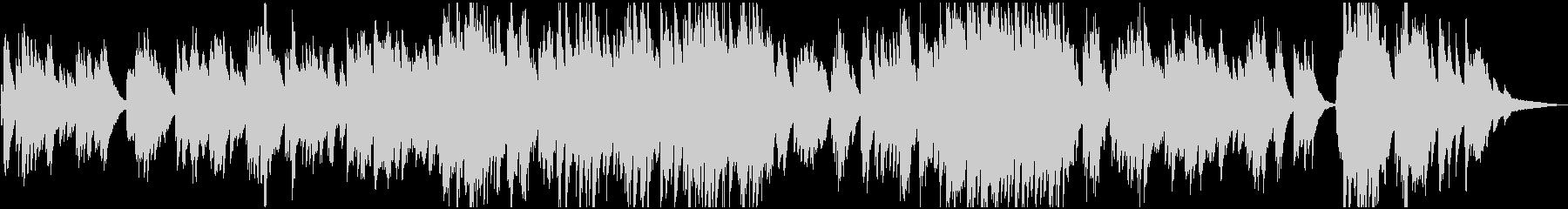 映画・ゲーム 切ないピアノバラードの未再生の波形