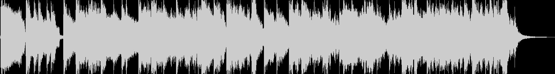 鍵盤メインの気だるいゴスペル風BGMの未再生の波形