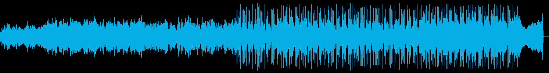 冬の冷たい海風の厳しさをイメージした曲の再生済みの波形