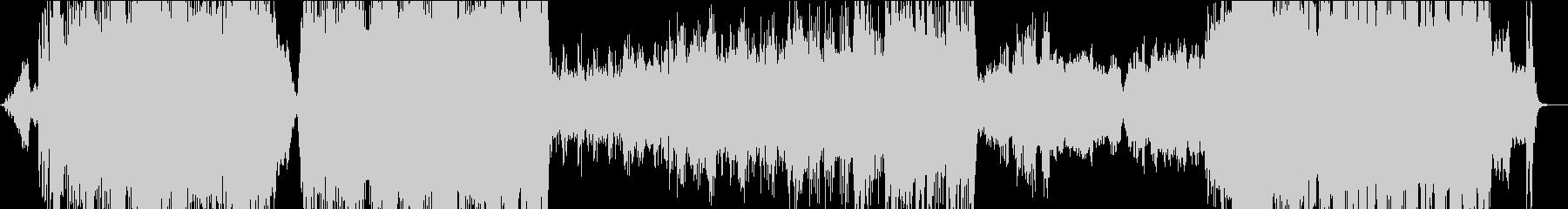 決戦前の戦士をイメージした重厚な曲の未再生の波形