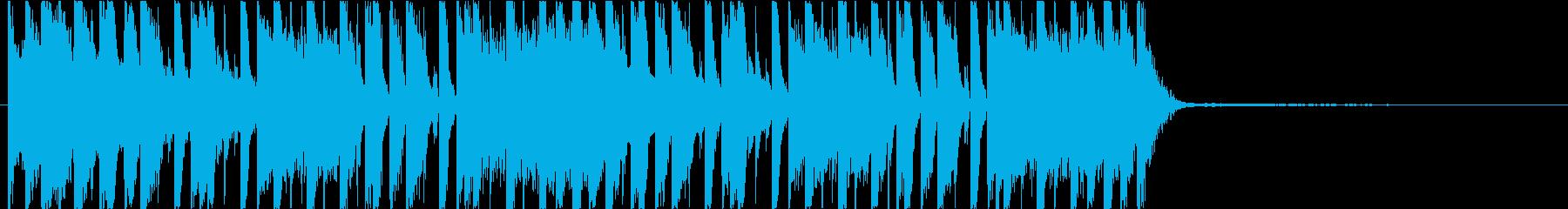 ベースがおしゃれなテクノジングルの再生済みの波形