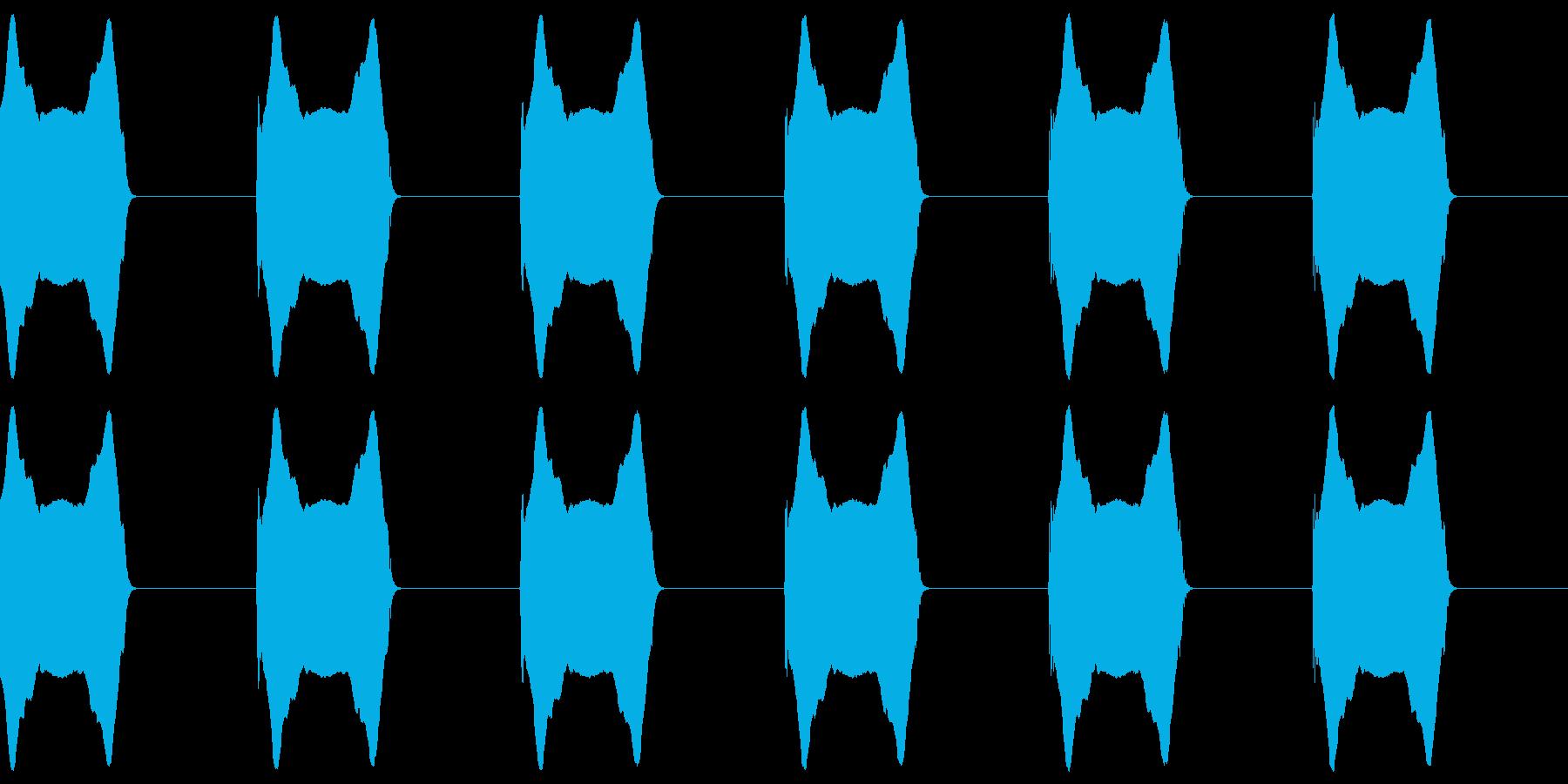 「ウーウーウーウー(サイレン)」の再生済みの波形