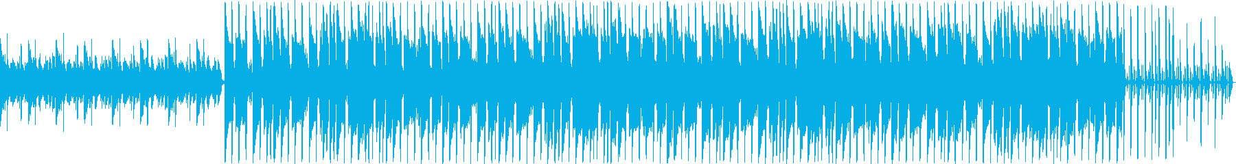 ギターとピアノの穏やかなループ曲の再生済みの波形