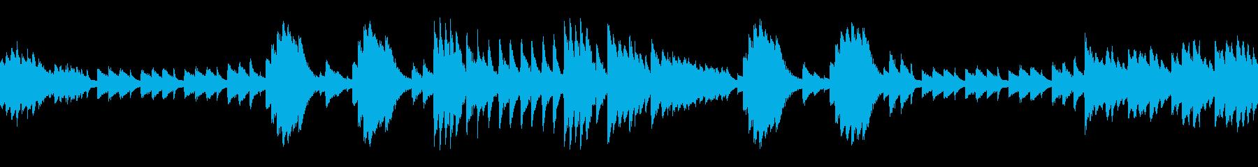 悲しく少し怖い雰囲気の曲(ループ仕様)の再生済みの波形