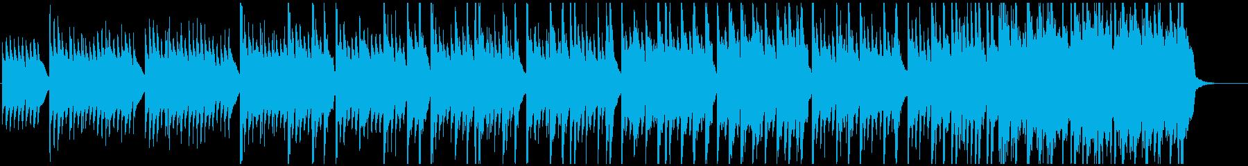 静かめなファンタジー曲の再生済みの波形