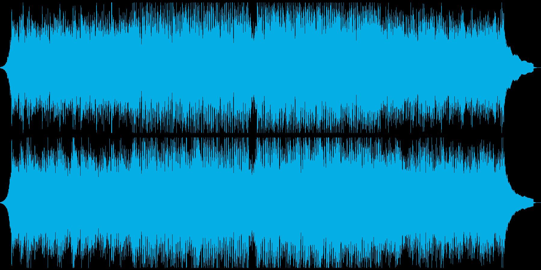 やさしさや安心感のある、テンポのよい曲の再生済みの波形