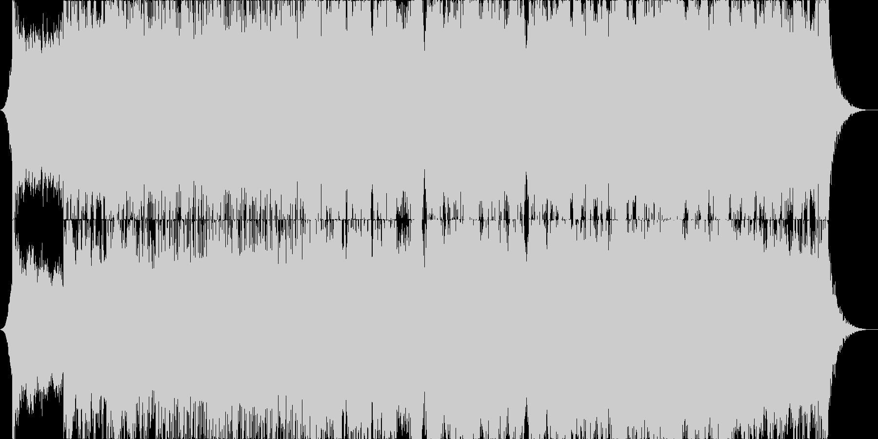 生演奏バイオリンによるダブステップの未再生の波形