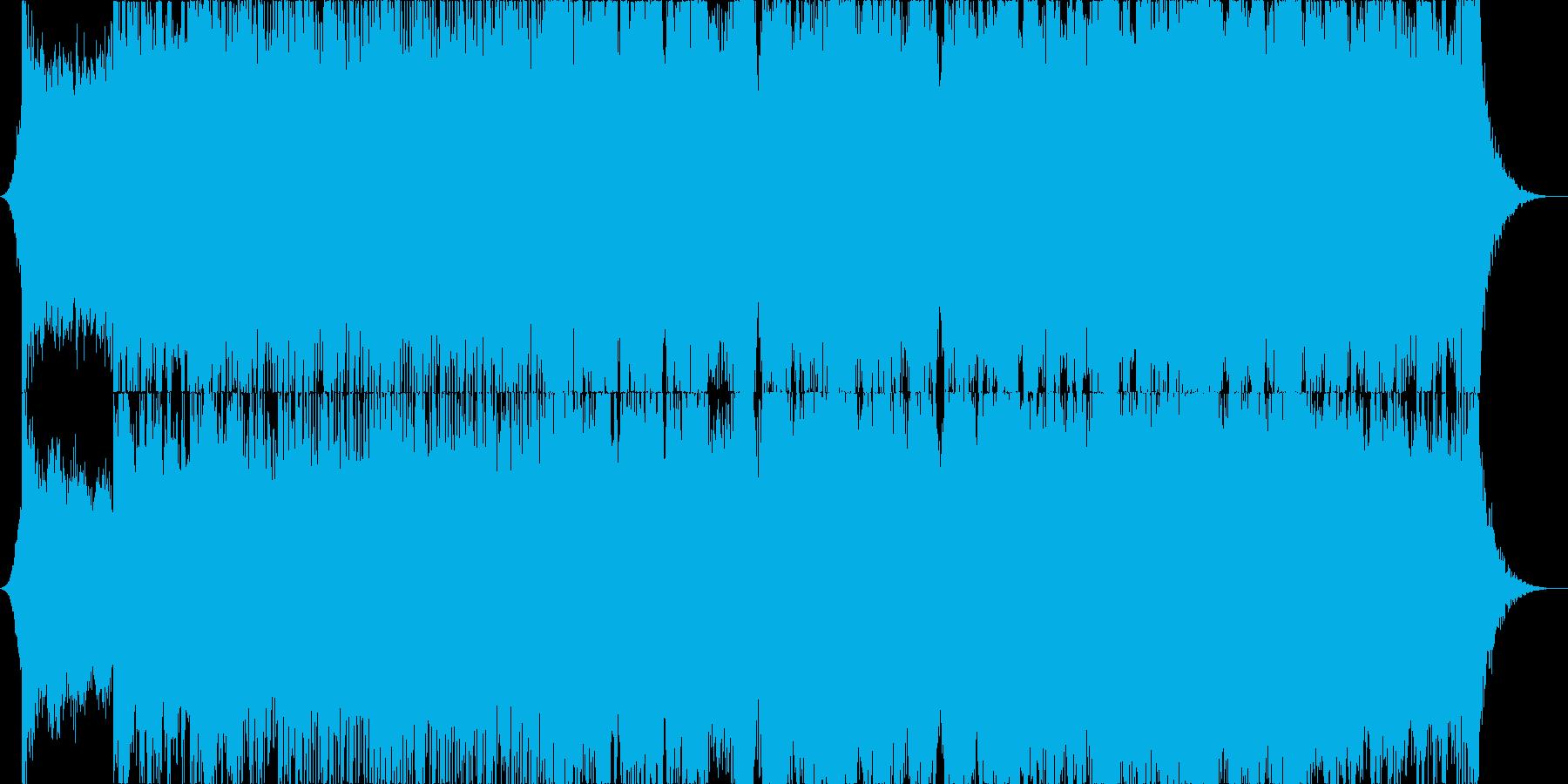 生演奏バイオリンによるダブステップの再生済みの波形