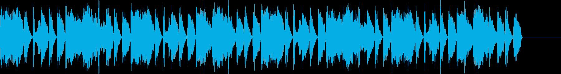 ボイスパーカッションでの16ビートです。の再生済みの波形