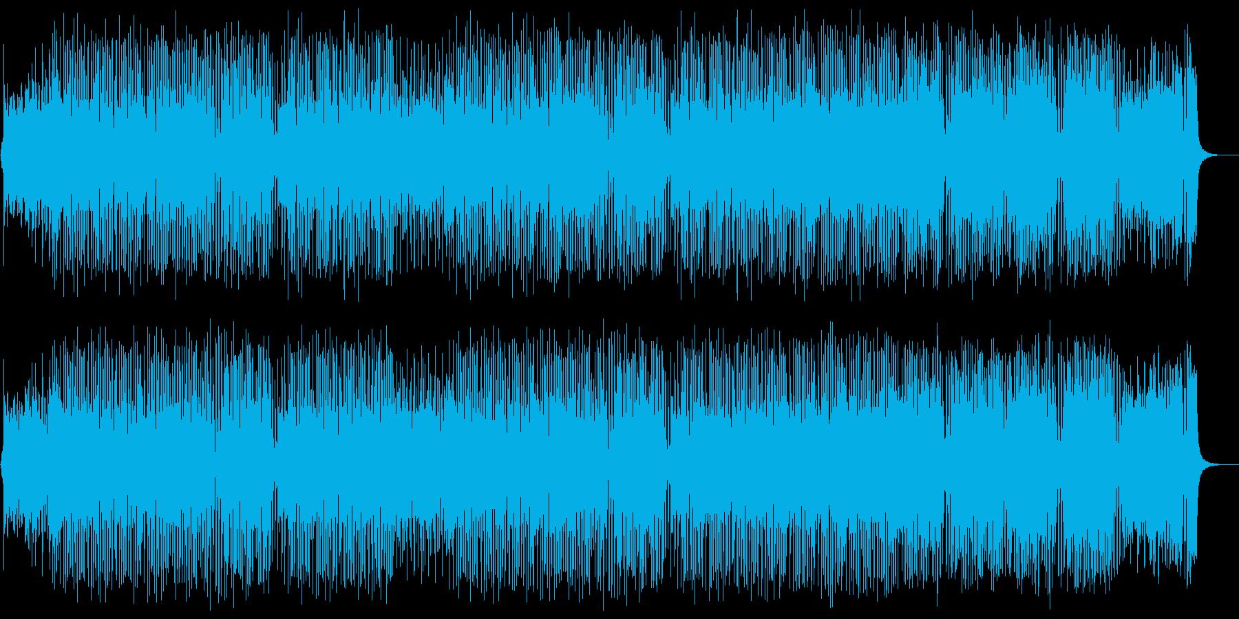 軽快でキャッチーなポップスの再生済みの波形