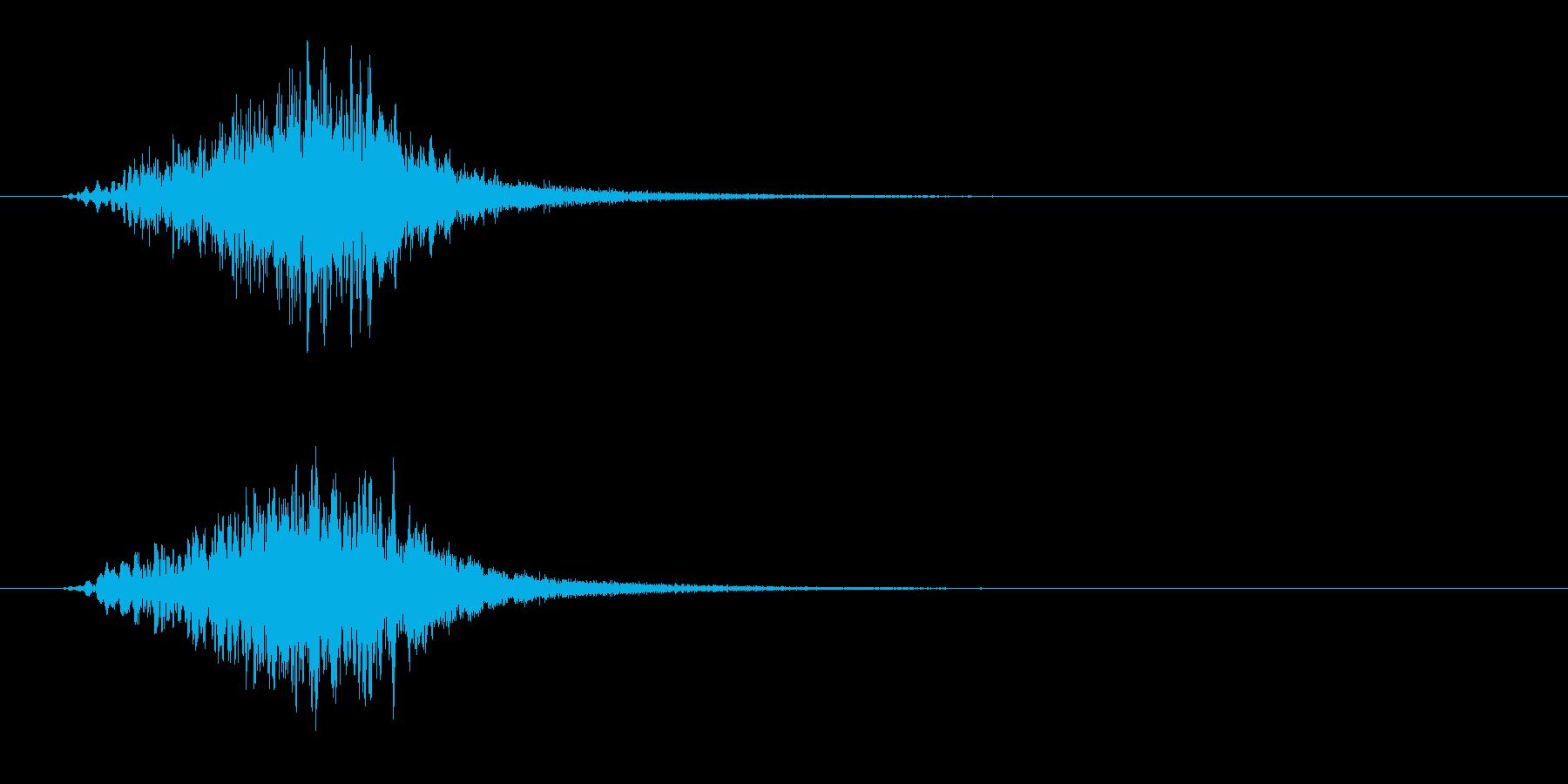 不気味なバズトーンヒューシュスティンガーの再生済みの波形