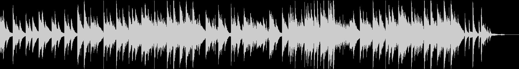 癒しのリラックスピアノの未再生の波形