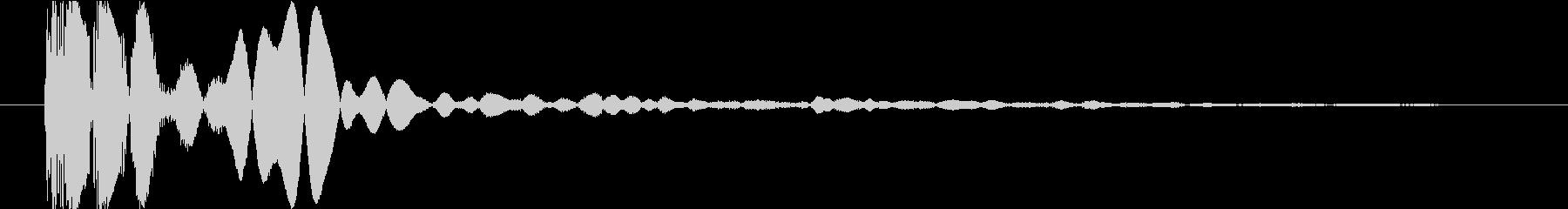 電子ドラムヒットの未再生の波形