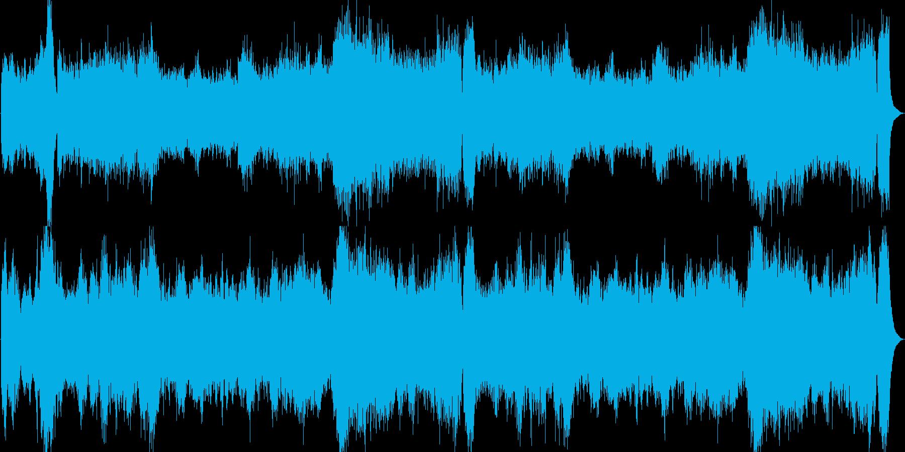 オーケストラによるドラマチックで壮大な曲の再生済みの波形