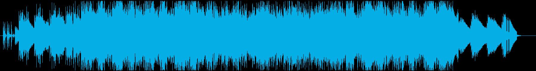 切ないピアノのリフレインとコーラスの再生済みの波形