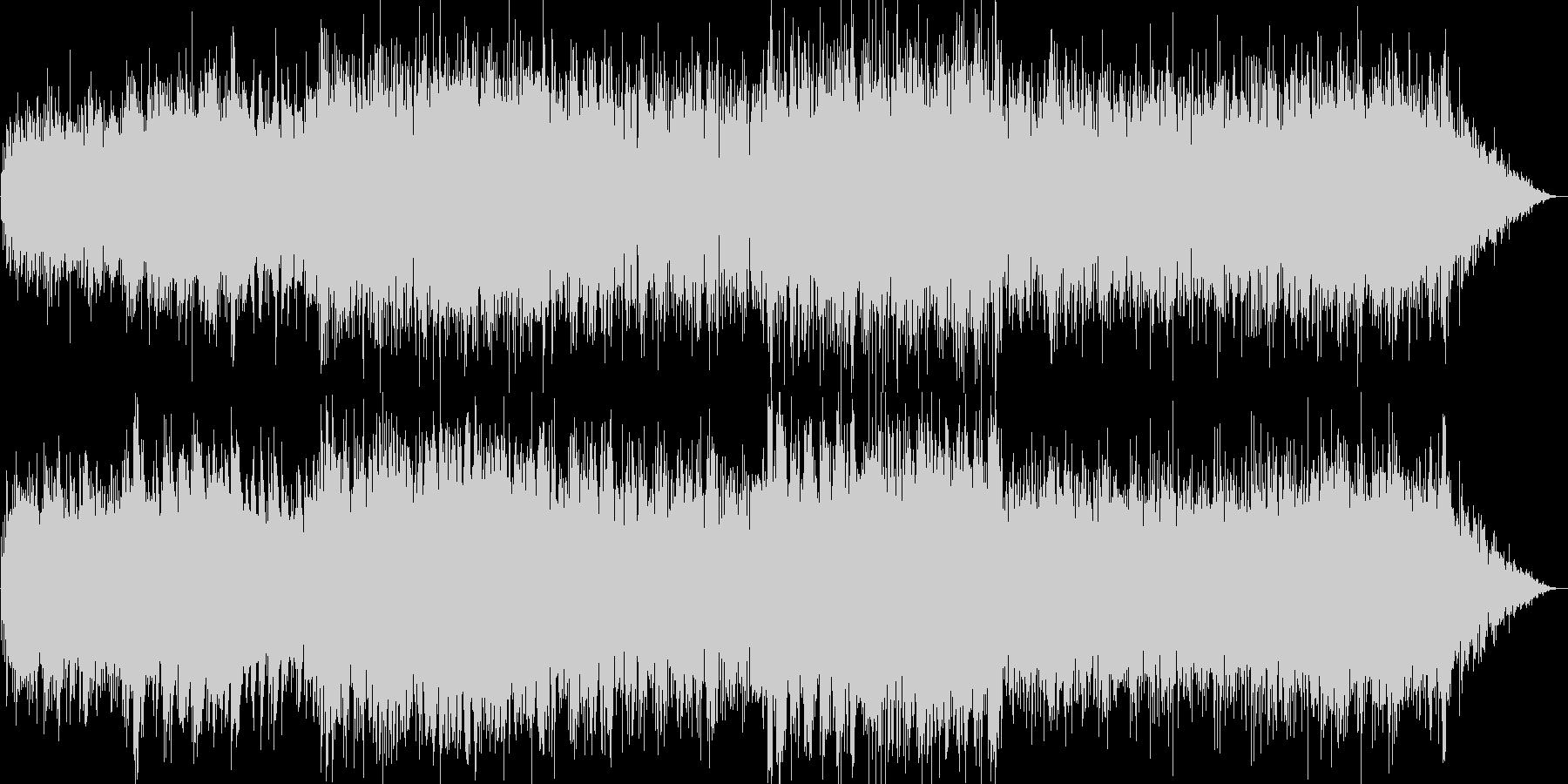 ピアノとエレピのジャズバラード楽曲の未再生の波形