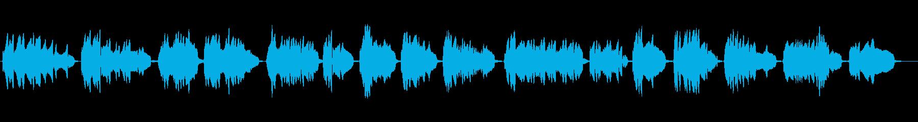 素朴な雰囲気のあるかっこいいメロディーの再生済みの波形