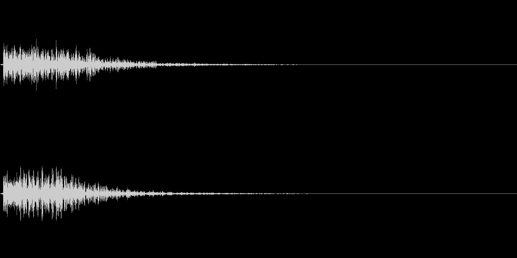 氷魔法音、衝撃音などにの未再生の波形