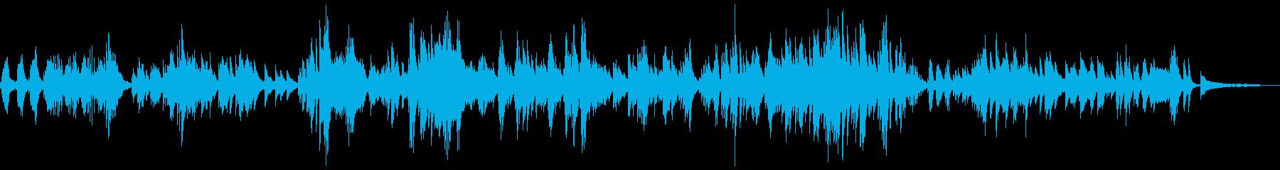 優しくアンビエント 神秘的なピアノソロの再生済みの波形