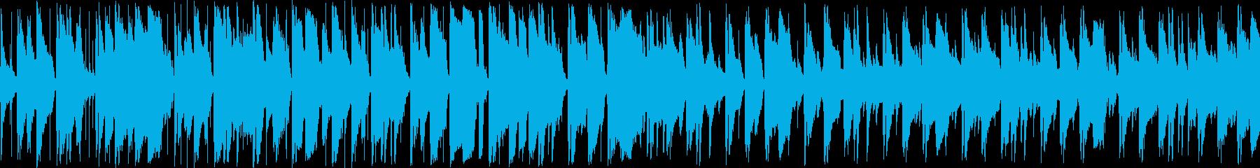 シンプルな構成の怪しくもおしゃれなジャズの再生済みの波形