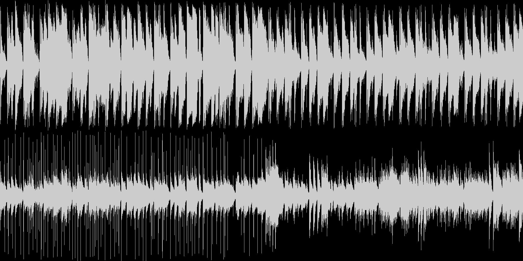 シンプルな構成の怪しくもおしゃれなジャズの未再生の波形