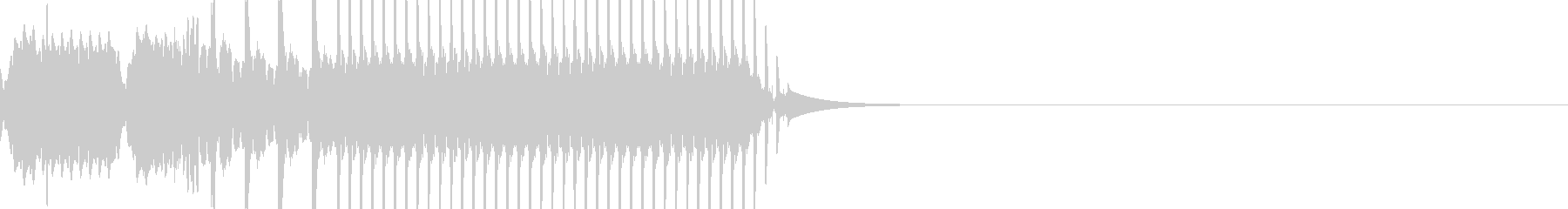 ショートカット5バージョン2の未再生の波形
