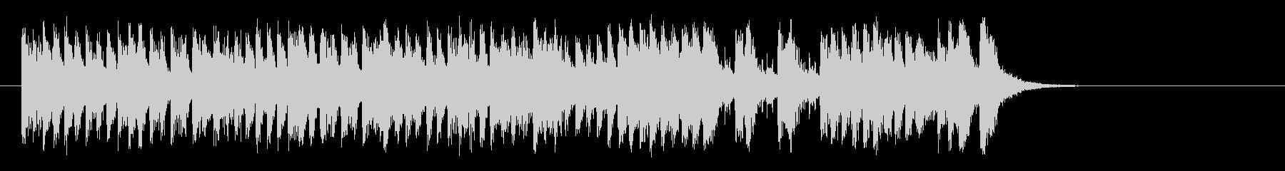 愛らしいコミカル調BGM(サビ)の未再生の波形