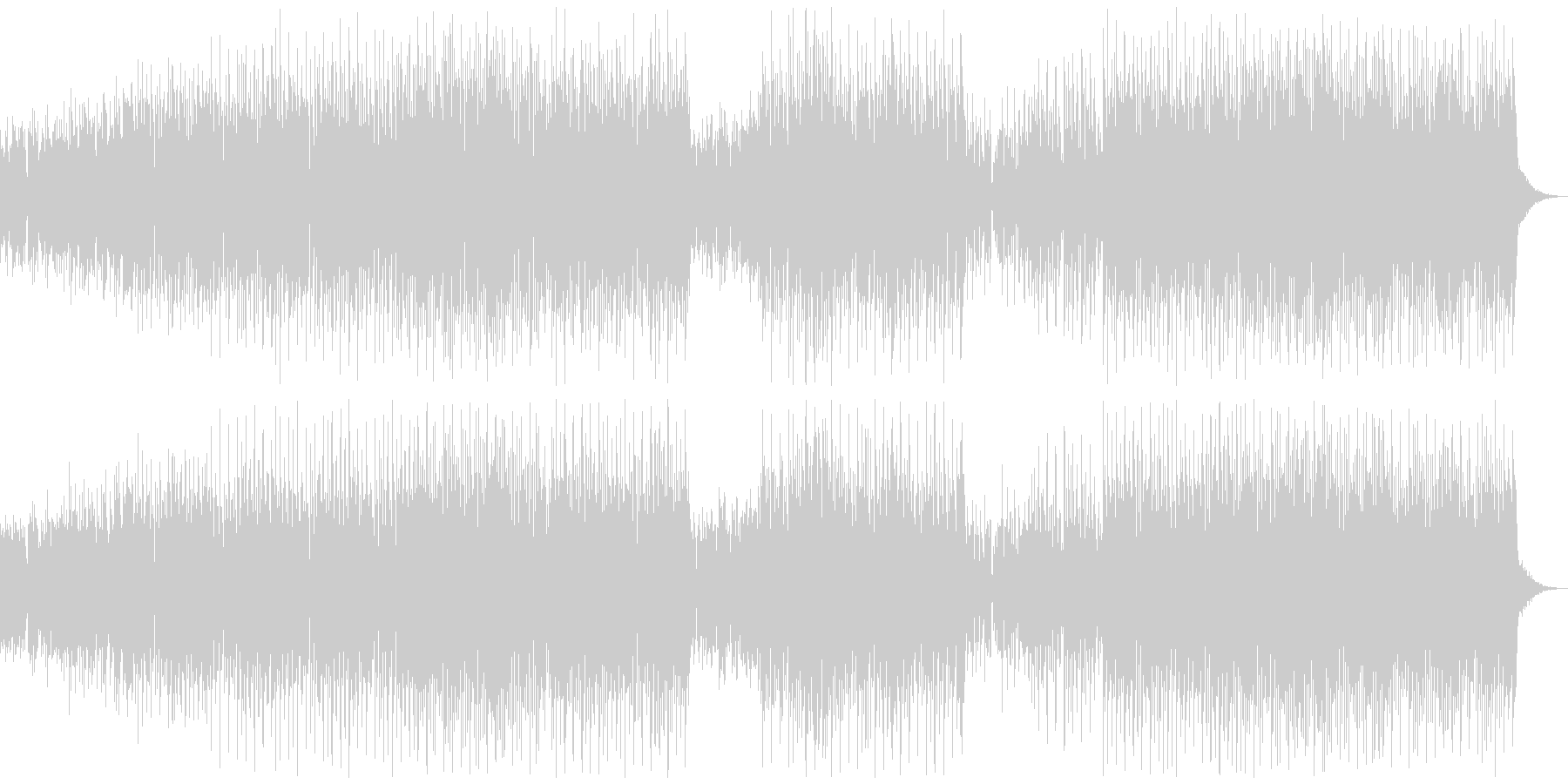 パワフルボイスのダンスミュージックの未再生の波形