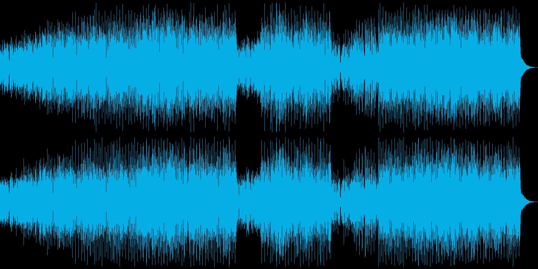 パワフルボイスのダンスミュージックの再生済みの波形