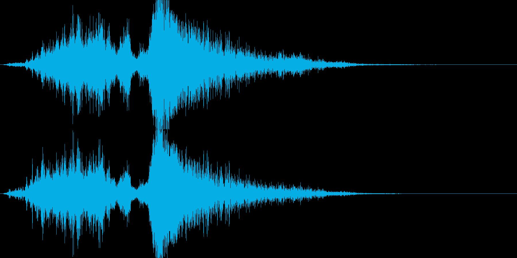 爆撃機ジェットプレーンオーバー、爆...の再生済みの波形